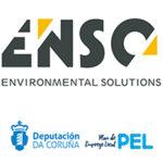 Logo Enso con logos Deputación A Coruña + PEL