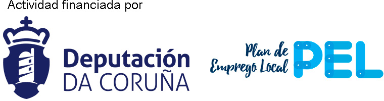 Logos Deputación da Coruña e Plan de Emprego Local